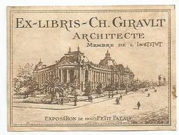EX LIBRIS CH. GIRAULT ,  ARCHITECTE , MEMBRE DE L INSTITUT - Ex-libris