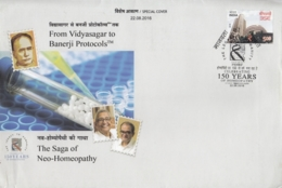 India  2016  The Saga Of   Neo - Homoeopathy  Homoeopathic Granuels  Kolkata  Special Cover   # 14833  D  Inde Indien - Medicine