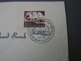 Borek Brief  Aus Riem Rennplatz  SST Pferde Braune Band .. 1942 - Deutschland