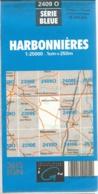 Carte IGN Harbonnières 1/25000 Hangest - Cartes Topographiques