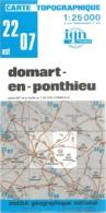 Carte IGN Domart En Ponthieu 1/25000 Somme - Cartes Topographiques