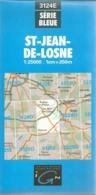 Carte IGN St Jean De Losne 1/25000  Brazey Chemin Cote D'or - Cartes Topographiques