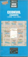 Carte IGN Exideuil Charente 1/25000 - Cartes Topographiques