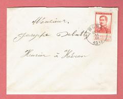 M-Lettre - 120x95 - Obl Moha Vers Héron Le 11-III-1914 Sur 123 Avec Bandelette - 1912 Pellens
