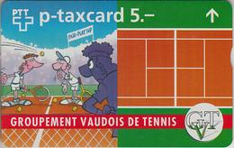SWITZERLAND - PHONE CARD - °TAXCARD SUISSE * FF ***  TENNIS VAUDOIS *** - Svizzera