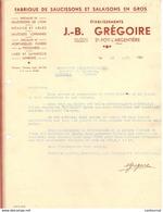 69 SAINTE FOY L' ARGENTIERE Ste COURRIER Fabrique De Saucissons Et Salaisons Ets GREGOIRE   * A3 - France