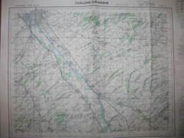 Chalons Sur Marne Carte état Major1/50000 1970 RATM - Cartes Topographiques