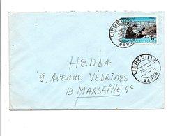 GABON LETTRE DE LIBREVILLE POUR LA FRANCE 1972 - Gabon (1960-...)