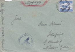German Feldpost WW2: Airmail From 3. Kompanie Luftwaffen-Bau-Bataillon 9/XI FP L41293 LGPA Posen - Militaria