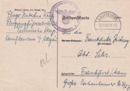 German Feldpost WW2: Flugzeugführerschule 23 (Techn. Kompanie) In Kaufbeuren P/m Kaufbeuren 18.11.1940 - Plain - Militaria