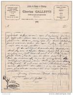 74 SAINT JULIEN EN GENEVOIS St COURRIER 193. Articles Ménage éclairage Charles GALETTI Pub  Pile WONDER Y15 Haute Savoie - France