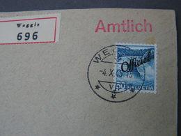 Weggis Amtlich Cv, 1945 - Dienstpost