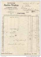 74 SAINT JULIEN EN GENEVOIS St FACTURE 1934 Manufacture AUTO VULCA CHAPUIS    - T53 - Automobile
