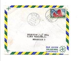 GABON LETTRE DE OYEM POUR LA FRANCE 1972 - Gabon (1960-...)