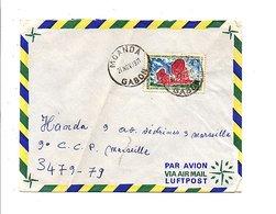 GABON LETTRE DE MOANDA POUR LA FRANCE 1971 - Gabon (1960-...)