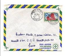 GABON LETTRE DE PORT GENTIL POUR LA FRANCE 1972 - Gabon (1960-...)