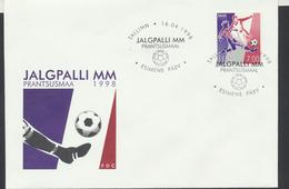 58-51 Estonia Football World Cup France FDC 16.04.1998 - Estonia