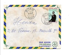 GABON LETTRE DE BITAM POUR LA FRANCE 1969 - Gabon (1960-...)