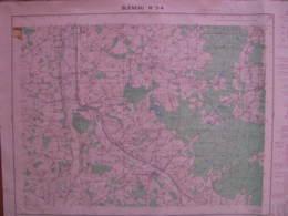 Bleneau3-4 Yonne Carte état Major 1/25000 1957 Perreux Sommecaise Martin Ouanne - Cartes Topographiques