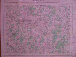 Bleneau 1-2 Yonne Carte état Major 1/25000 1957 Marchais Charme Maurice Aveyron - Cartes Topographiques