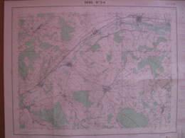 Sens 3-4 Yonne Carte état Major 1/25000 1956 Chigy Vareilles Les Sieges Foissy - Cartes Topographiques