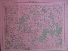 Bleneau 5-6 Yonne Carte état Major 1/25000 1957 Rogny Champcevrais Cha De Chatre - Cartes Topographiques