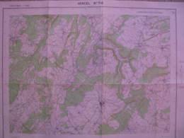 Vercel 7-8 Doubs Carte Ign 1/25000 1954 Belmont Eysson Villers Chief Adam Vercel - Cartes Topographiques