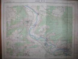 Joigny 1-2 Yonne Carte état Major 1/25000 1956 Armeau Villevallier Themes Gezy - Cartes Topographiques