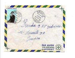 GABON LETTRE DE NDJOLE POUR LA FRANCE 1969 - Gabon (1960-...)