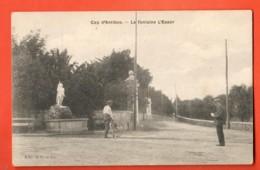 VAO-27 Cap D'Antibes La Fontaine L'Essor, Cycliste . ANIME. Non Circulé - Cap D'Antibes - La Garoupe