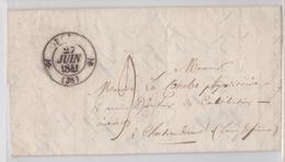 PLI LETTRE EN-TÊTE MAIRIE D'ORGELET POUR CHATEAUBRIAND PAR PARIS 1841 - Marcophilie (Lettres)