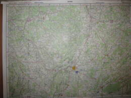 Dijon Cote D'or Carte état Major 1/250000 Aéronautique 1963 Beaune Dole - Cartes Topographiques