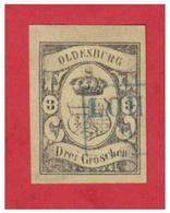 GERMANY -- OLDENBURG --MITCHEL N° 8 -- SIGNE -- OBLITERATION BLEUE DE LOHNE-- - Oldenbourg