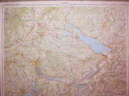 Zurich Carte état Major 1/250000 1966 Dornbirn Singen Ravensburg Wangen - Cartes Topographiques