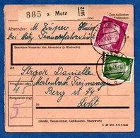 Colis Postal  -  Départ Metz  -  13/9/1943 - Germany