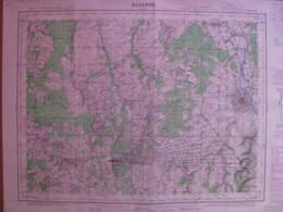 Auxerre (Yonne)) Carte état Major 1/50000 1958 Toucy S Aubin Ormes Dracy Aillant - Cartes Topographiques