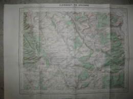 Clermont En Argonne Carte état Major 1/50000 1949 Nixeville Souilly Triaucourt - Cartes Topographiques