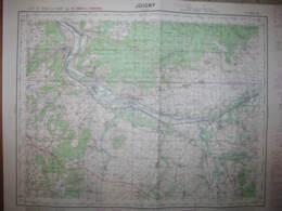 Joigny Yonne Carte état Major 1/50000 1957 Laroche Migennes Brion Senan Chichery - Cartes Topographiques
