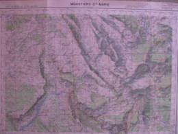 Moustier St Marie Basses Alpes Carte état Major 1/50000 1957 Palud Blieux Verdon - Cartes Topographiques