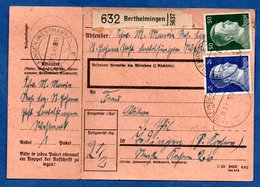 Colis Postal  -  Départ Berthelmingen ( Berthelming )  -  11/1/1943 -  Avec Rabat - Covers & Documents