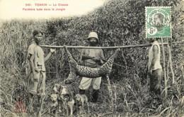 Tonkin - Cochinchine - Viêt-Nam - La Chasse - Panthère Tuée Dans La Jungle - Viêt-Nam