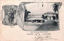 Gabon - Type Gruss Aus - Libreville - Pahouins - Agence Des Chargeurs Réunis - Gabon