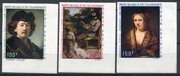 1969- DAHOMEY - ART.TABLEAUX-REMBRANDT-   3 VAL.IMPERF. - M.N.H. -LUXE ! - Bénin – Dahomey (1960-...)