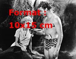 Reproduction D'une Photographie Ancienne De Buster Crabbe Dans Le Rôle De Tarzan Avec Jane Julie Bishop En 1933 - Reproductions