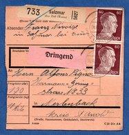 Colis Postal  -  Départ Salzmar ( Marsal ) --  08/11/1943 - Germany