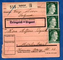 Colis Postal  -  Départ Salzmar ( Marsal ) --  08/5/1943 - Germany