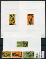 1968- DAHOMEY -EUROPE/AFRIQUE-DE GASPERI-ADENAUER-SCHUMAN- 3 VAL.IMPERF.+ 3 SS.DE LUXE - M.N.H. -LUXE ! - Benin – Dahomey (1960-...)