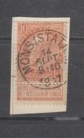 COB 57 Oblitéré MONS (Station) - 1893-1900 Schmaler Bart