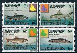 "ETHIOPIE 1985  MNH  -   "" POISSONS / FISHES ""  -  4  VAL. - Ethiopie"