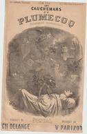 (GEO1) LES COCHEMARS DE PLUMECOQ, Paroles CH DELANGE , Musique V PARIZOT , Illustration STOP - Partitions Musicales Anciennes